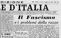 Il Giornale d'Italia del 15 luglio 1938