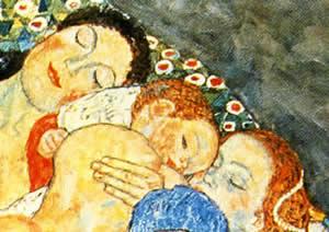 Gustav Klimt: La vita e la morte, particolare