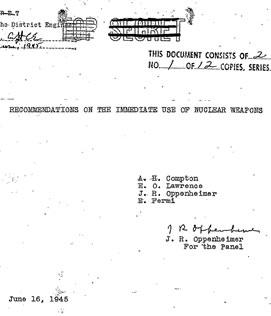 La prima pagina del documento