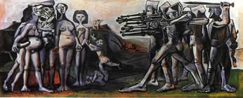 Massacro in Corea - Picasso 1951 (olio su tela, cm 110x210)