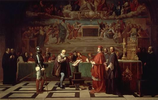 Galileo di fronte al Sant'Uffizio, dipinto di Joseph-Nicolas Robert-Fleury