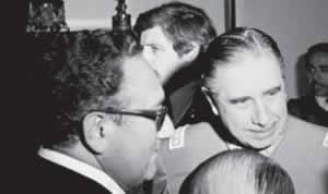 Henry Kissinger e Augusto Pinochet