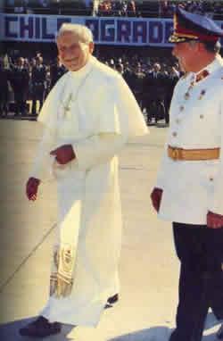 Wojtyla e Augusto Pinochet