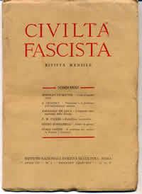 """un numero di """"civilta' fascista"""""""